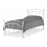 Burzum fém ágykeret fehér 90x200 cm