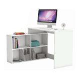 Korner sarok íróasztal fehér