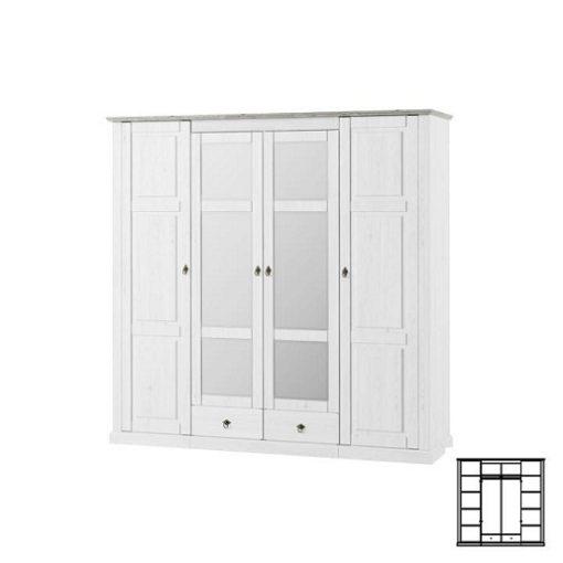 Liona szekrény fehér-szürke
