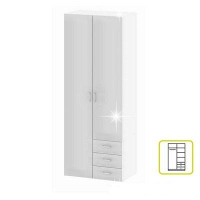 Gwen akasztós szekrény fehér