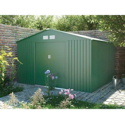 Kerti fém ház zöld
