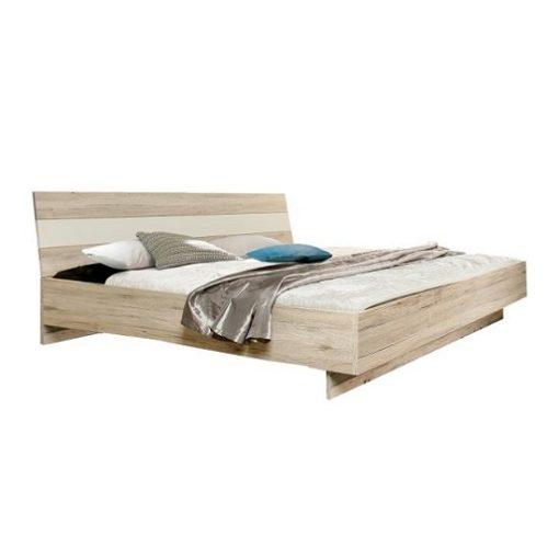 Valeria ágykeret Homok tölgy-fehér 180x200 cm