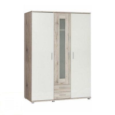 Valeria gardrób szekrény Homok tölgy-fehér