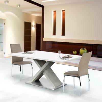 Farnel asztal mf fehér-beton