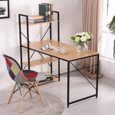 Vejna kombinált asztal fekete fém-tölgy