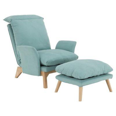 Zander fotel+puff menta 1