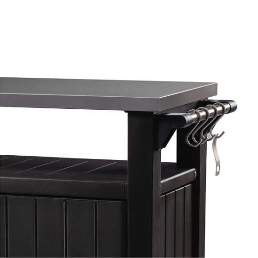 Kerti grill asztal barna 2