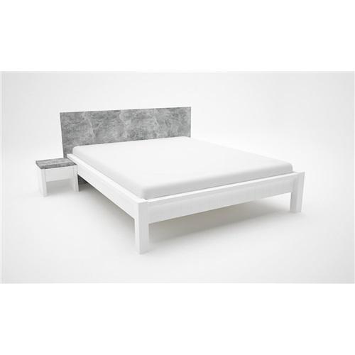 Maya ágykeret Betonszürke-fehér