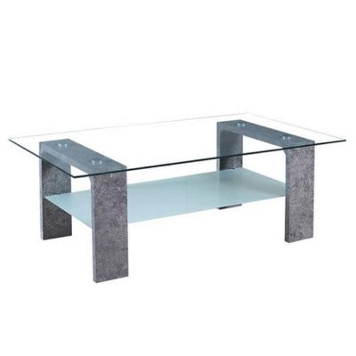 Belton dohányzóasztal üveg-betonszürke 1