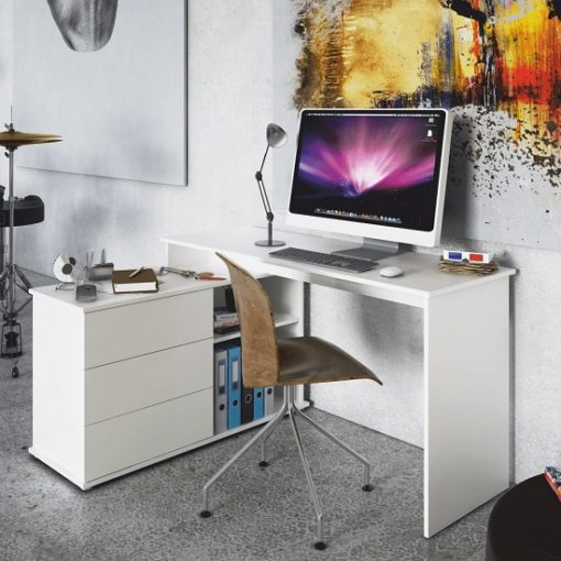 Terino sarok íróasztal fehér 1
