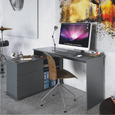 Terino sarok íróasztal grafit szürke 1