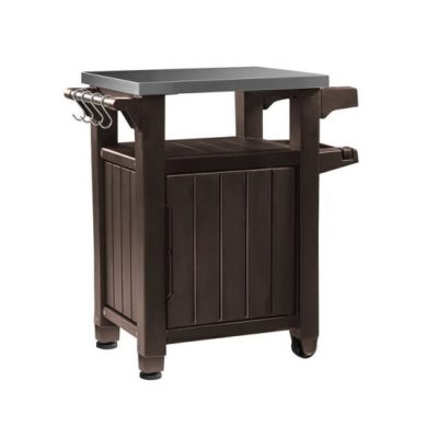 Kerti grill asztal 93L barna