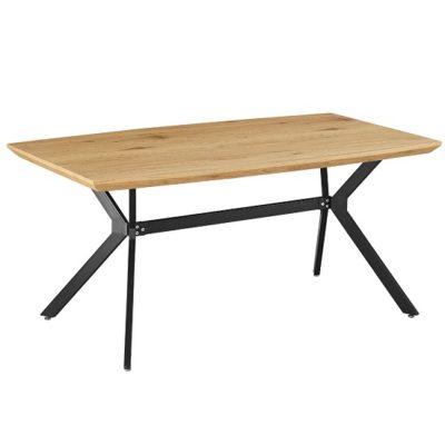 Mediter étkezőasztal tölgy-fekete fém 1