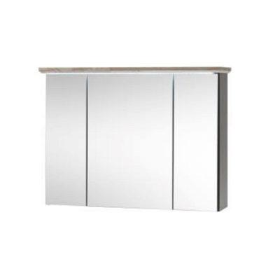 Toskana fürdő tükrös szekrény szürke 1