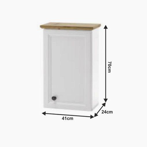Toskana fürdőszoba felső szekrény fehér méret