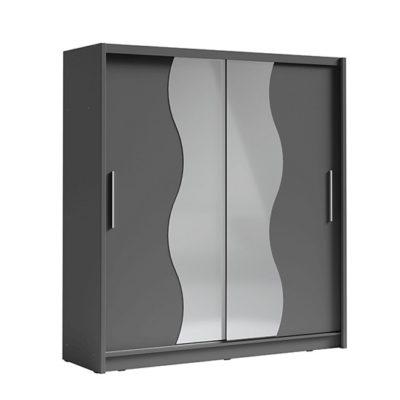 Birgamo tolóajtós szekrény t1 grafit