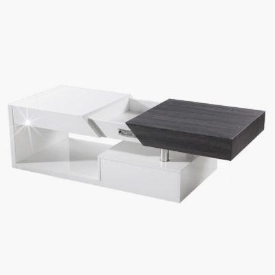 Melida dohányzóasztal fehér-fekete 1